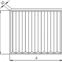 Panel filter 1080 x 492 x 50 class G4 (Coarse 75%)